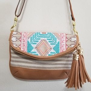 MMS crossbody bag, striped with Aztec print